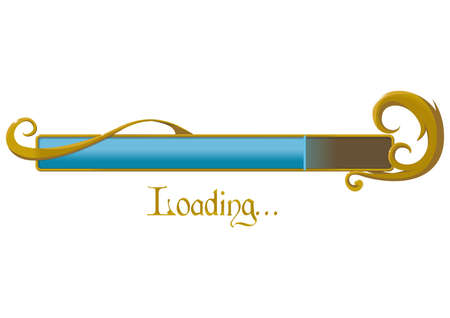 loading button Ilustrace