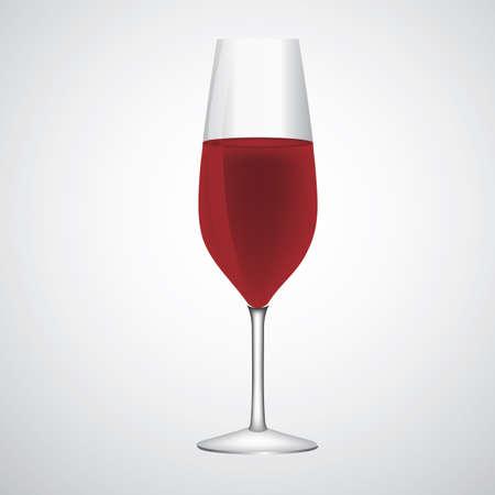 glass of red wine Ilustração