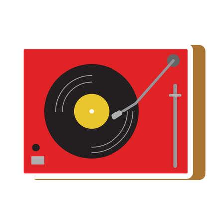 dj turntable Illustration