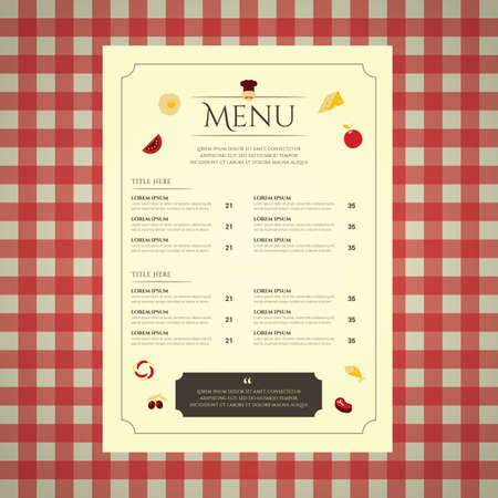 restaurant menu card Stock fotó - 81486653