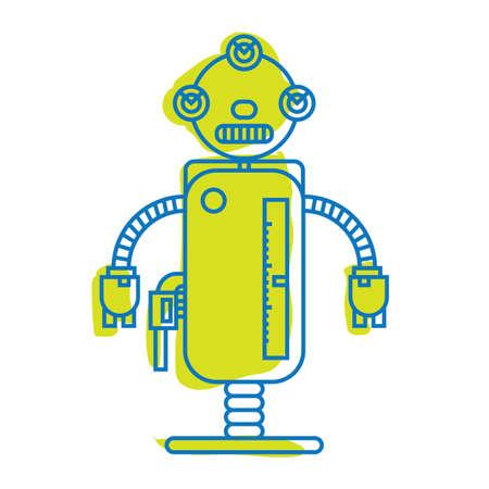 A robot illustration.
