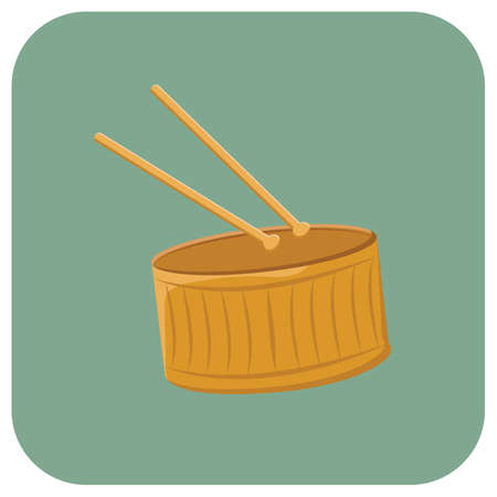 drum and sticks Иллюстрация