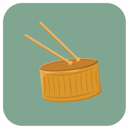 drum and sticks Illustration