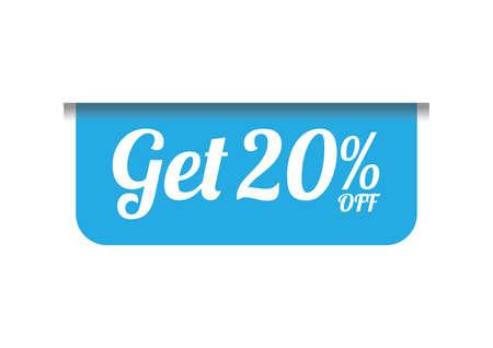 get twenty percent off label Banco de Imagens - 106671150