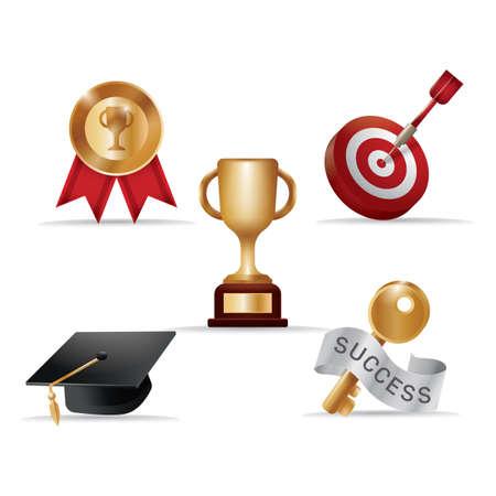 set of various awards Illusztráció