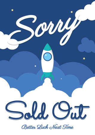 sorry sold out background Illustration