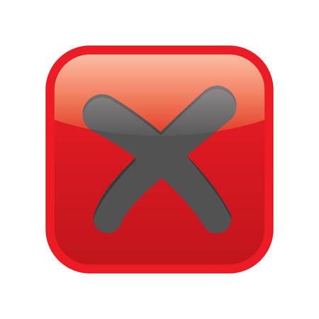 Botón cancelar Foto de archivo - 81470671