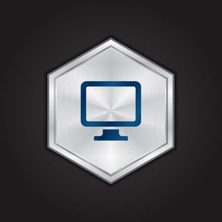 computer monitor Ilustrace