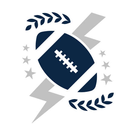 american football badge Illustration
