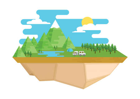 Scenic landscape Illustration