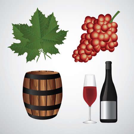 wijn elementen Stock Illustratie