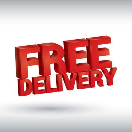 free delivery Illusztráció