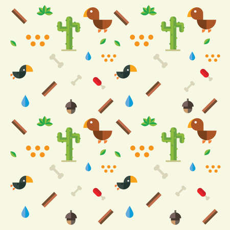 Cute bird and nature design Ilustrace