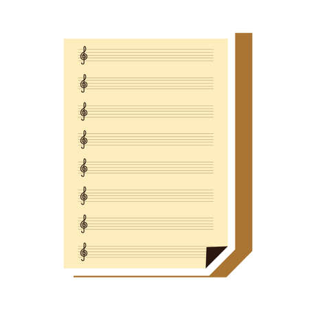 empty musical sheet