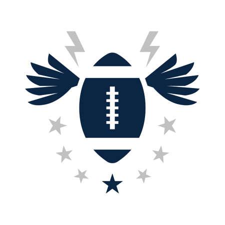 american football badge Illustration