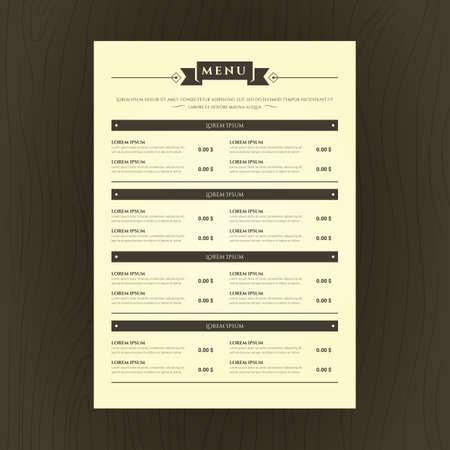 Carte menu du restaurant Banque d'images - 81486655