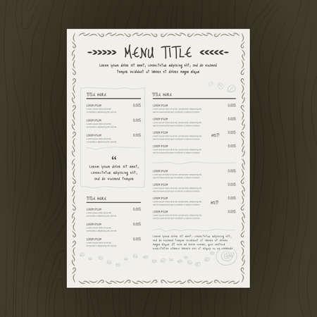 Carte menu du restaurant Banque d'images - 81486656