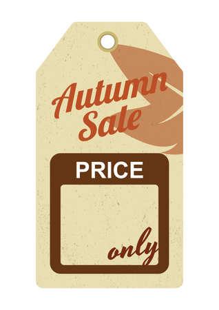 autumn sale tag