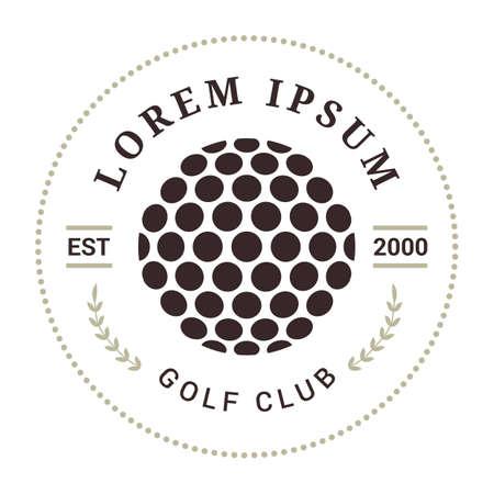 golf club emblem Banque d'images - 106671195