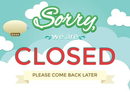 我々 は、申し訳ありませんが閉じ背景