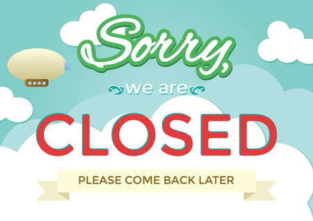 sorry we are closed background