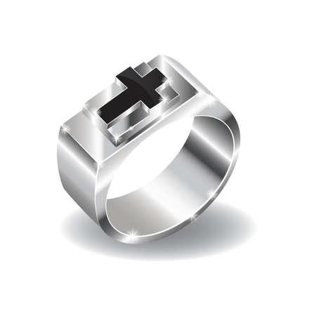 반지에 기독교 십자가