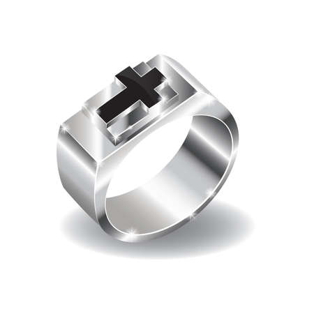 christian cross on a ring