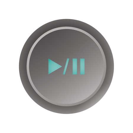 再生一時停止ボタン