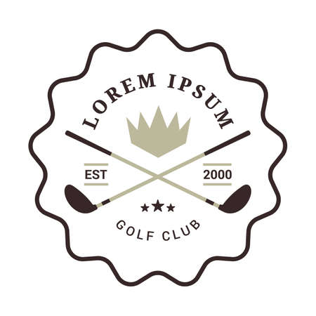 golf club emblem Banque d'images - 106671211