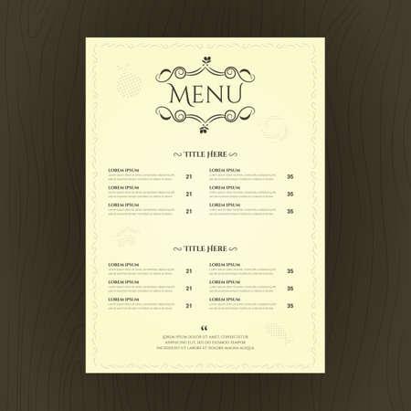 Carte menu du restaurant Banque d'images - 81486658