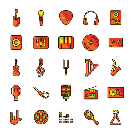 set of musical equipments