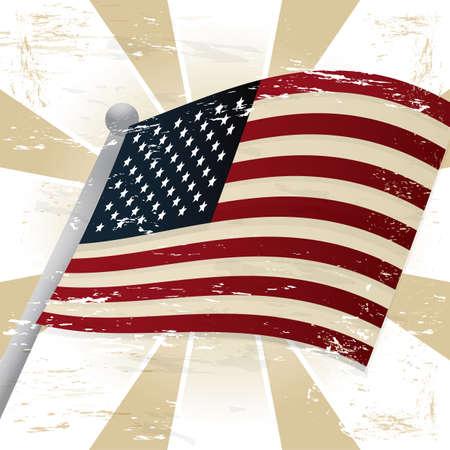 usa flag 向量圖像