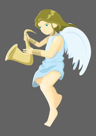 Ange jouant de la trompette Banque d'images - 81419188