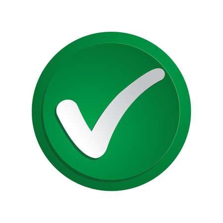 Eine Check-Button-Abbildung.