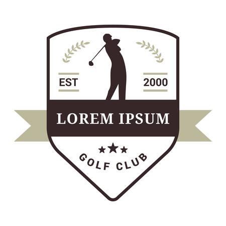 golf club emblem Banque d'images - 106671229
