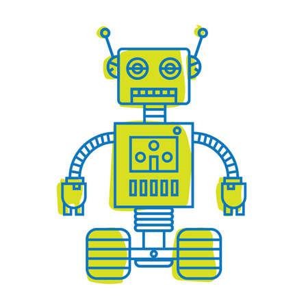 로봇 그림입니다. 일러스트