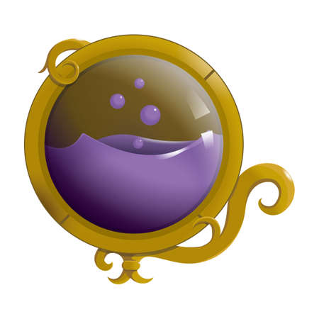 bola de cristal con liquido