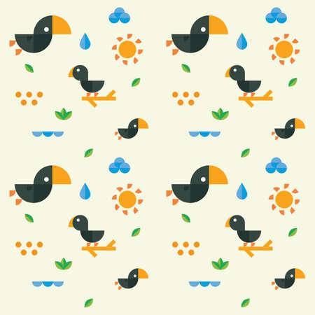 Cute bird and nature design 向量圖像