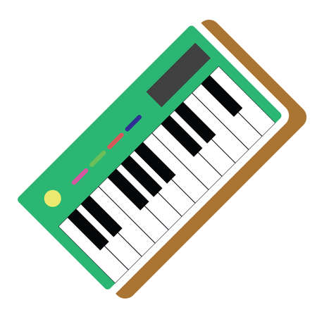 musical keyboard 矢量图像