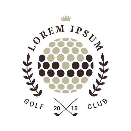 golf club emblem Banque d'images - 106671244