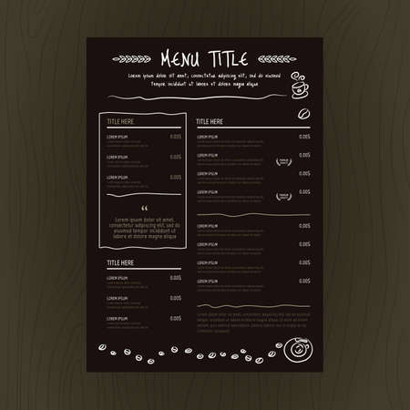 restaurant menu card 向量圖像