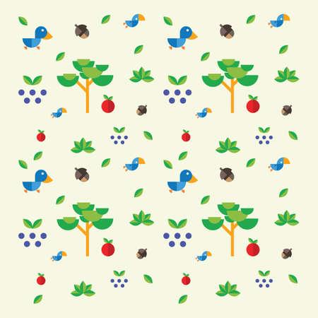 Cute bird and nature design Illusztráció