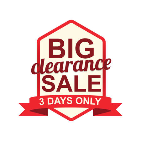 big clearance sale label