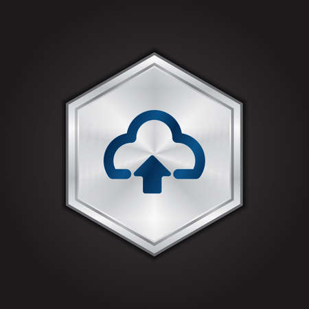 cloud upload icon 向量圖像
