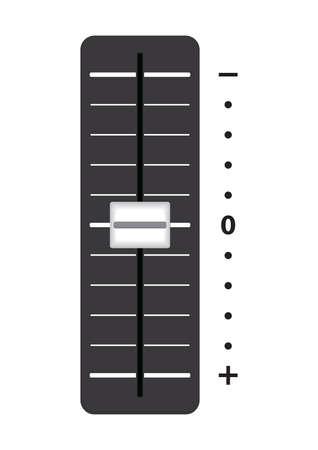 Volume setting slider Illustration
