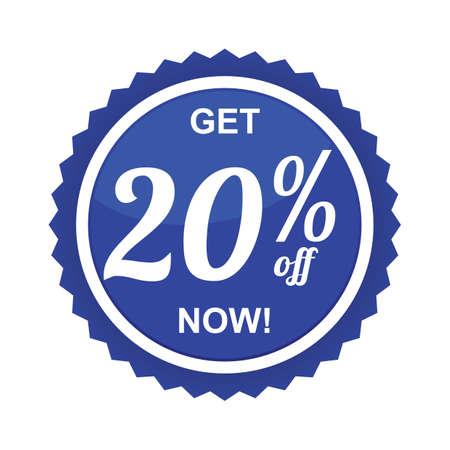 twenty percent offer label Banco de Imagens - 81538151