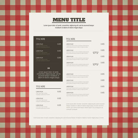 Carte menu du restaurant Banque d'images - 81486661