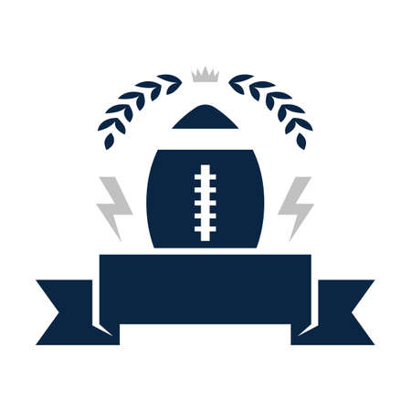 american football badge Ilustrace