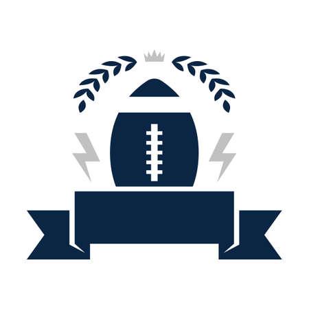 american football badge  イラスト・ベクター素材