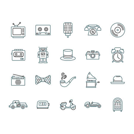 walkman: A retro icons illustration.
